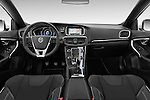 Stock photo of straight dashboard view of 2015 Volvo V40 R-Design 5 Door Hatchback Dashboard