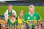 Kerry Fans at the Munster Semi-Final Replay at Park Ui Caoimh on Sunday were Joeseph, Conor, Noreen and Andrew McCarthy, Rathmore.