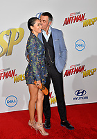 Shaun Toub &amp; Lorena Mendoza at the premiere for &quot;Ant-Man and the Wasp&quot; at the El Capitan Theatre, Los Angeles, USA 25 June 2018<br /> Picture: Paul Smith/Featureflash/SilverHub 0208 004 5359 sales@silverhubmedia.com