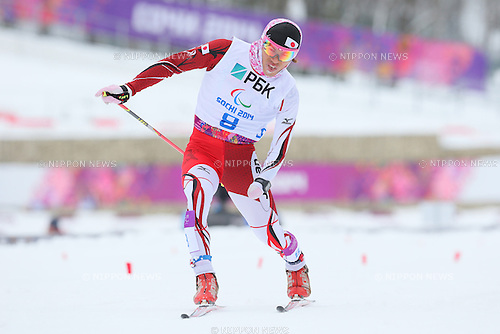 Keiichi Sato (JPN),<br /> MARCH 14, 2014 - Biathlon : <br /> Men's 15km Standing<br /> at &quot;LAURA&quot; Cross-Country Ski &amp; Biathlon Center <br /> during the Sochi 2014 Paralympic Winter Games in Sochi, Russia. <br /> (Photo by Yohei Osada/AFLO SPORT) [1156]