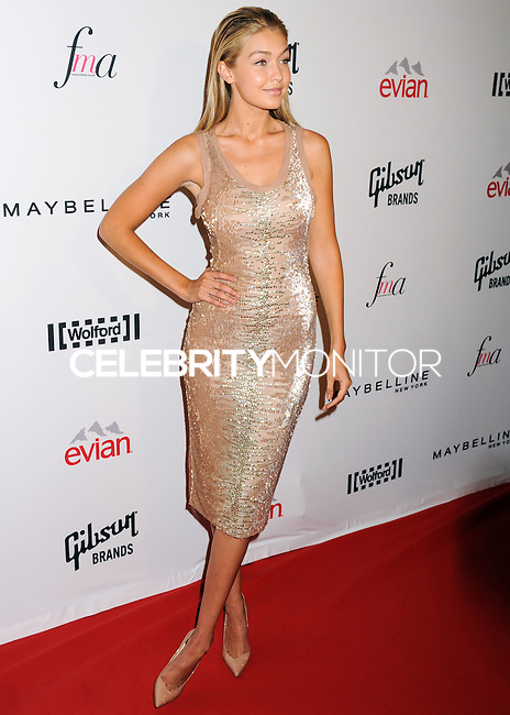 NEW YORK CITY, NY, USA - SEPTEMBER 05: Gigi Hadid arrives at the 2nd Annual Fashion Media Awards held at the Park Hyatt on September 5, 2014 in New York City, New York, United States. (Photo by Celebrity Monitor)