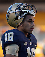 Pittsburgh defensive back Jarred Holley. The Pittsburgh Panthers defeated the Navy Midshipmen 27-14 at Heinz Field, Pittsburgh, PA.