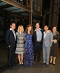 Melissa Benoit with Paul Anthony Stewart, Jessica Keenan Wynn, Evan Todd, Ben Jacoby and Nancy Opel backstage backstage after her Opening Night debut in 'Beautiful-The Carole King Musical' at the Stephen Sondheim on June 12, 2018 in New York City.