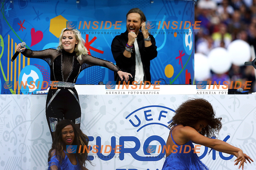 Zara Larsson, David Guetta <br /> Paris 10-06-2016 Stade de France football Euro2016 France - Romania  / Francia - Romania Group Stage Group A. Foto Matteo Ciambelli / Insidefoto