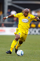 24 OCTOBER 2010:  Columbus Crew forward Emilio Renteria (20) during MLS soccer game against the Philadelphia Union at Crew Stadium in Columbus, Ohio on August 28, 2010.