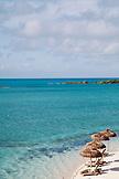 EXUMA, Bahamas. Private beach at the Fowl Cay Resort.