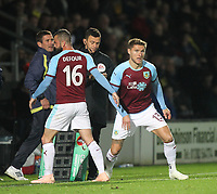 Burnley's Jeff Hendrick replaces Steven Defour<br /> <br /> Photographer Mick Walker/CameraSport<br /> <br /> The Carabao Cup Round Three   - Burton Albion  v Burnley - Tuesday  25 September 2018 - Pirelli Stadium - Buron On Trent<br /> <br /> World Copyright &copy; 2018 CameraSport. All rights reserved. 43 Linden Ave. Countesthorpe. Leicester. England. LE8 5PG - Tel: +44 (0) 116 277 4147 - admin@camerasport.com - www.camerasport.com