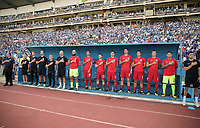 San Pedro Sula, Honduras. - Tuesday September 05, 2017: USMNT bench during a 2017 FIFA World Cup Qualifying (WCQ) round match between the men's national teams of the United States (USA) and Honduras (HON) at Estadio Olímpico Metropolitano.