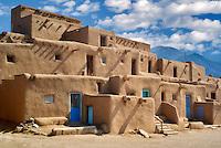 Dwelling structures in Pueblo de Taos. Taos, New Mexico