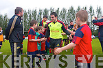 The Munster teams visit to Tralee Rugby club for an open training session which ran in conjunction with the Munster Rugby Summer Camp.  Pictured are the summer camp participants and the Munster players after playing a game together.