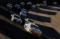 Mar. 1, 2009; Las Vegas, NV, USA; NASCAR Sprint Cup Series driver Jamie McMurray (26) leads a pack of cars during the Shelby 427 at Las Vegas Motor Speedway. Mandatory Credit: Mark J. Rebilas-