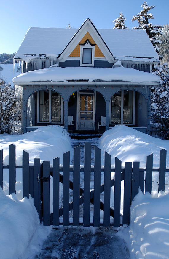 Victorian house on Main Street, Aspen, Colorado. © Michael Brands. 970-379-1885.