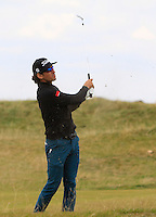 Rafa Cabrera-Bello (ESP) on the 14th fairway during Round 4 of the 2015 Alfred Dunhill Links Championship at the Old Course in St. Andrews in Scotland on 4/10/15.<br /> Picture: Thos Caffrey | Golffile