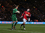 Frustrated Wayne Rooney of Manchester United as Thorsten Stuckmann of Preston North End collects the ball - FA Cup Fifth Round - Preston North End  vs Manchester Utd  - Deepdale Stadium - Preston - England - 16th February 2015 - Picture Simon Bellis/Sportimage