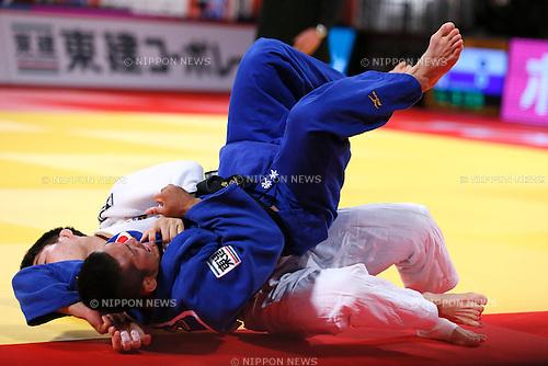 Hiroyuki Akimoto (JPN), DECEMBER 5, 2015 - Judo : IJF Grand Slam Tokyo 2015 International Judo Tournament Men's -73kg Final at Tokyo Metropolitan Gymnasium, Tokyo, Japan. (Photo by Sho Tamura/AFLO SPORT)