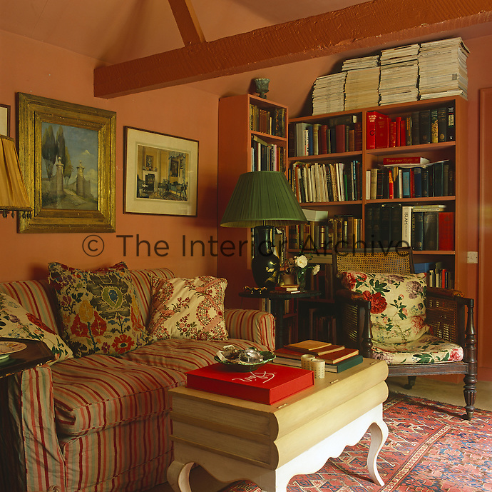 The comfortable library/sitting room continues the haphazard design style to be seen in the rest of the folly