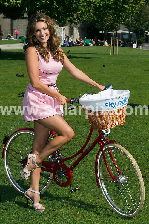 **ALL ROUND PICTURES FROM SOLARPIX.COM**                                             **WORLDWIDE SYNDICATION RIGHTS**                                                                                  Caption: London Mayor Boris Johnson and Kelly Brook launch the 2011 Mayor Of London Skyride, a mass cycle ride which will give Londoners the chance to enjoy traffic free roads around the landmarks of London, encouraging riders of all ages to get on their bikes. London, UK. 25 August 2011                                                                              This pic:  Kelly Brook                                                                                    JOB REF: 13886 SKD       DATE: 25_08_2011                                                           **MUST CREDIT SOLARPIX.COM OR DOUBLE FEE WILL BE CHARGED**                                                                      **MUST AGREE FEE BEFORE ONLINE USAGE**                               **CALL US ON: +34 952 811 768 or LOW RATE FROM UK 0844 617 7637**