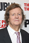 """David Hare during the Off-Broadway Opening Night performance party for """"Plenty""""  at the Public Theatre on October 20, 2016 in New York City."""