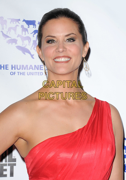 LU PARKER .at The Humane Society of The United States celebration of The 25th Anniversary Genesis Awards in Beverly Hills, California, USA, .March 19th 2011..portrait headshot smiling  one shoulder red                                                                       .CAP/RKE/DVS.©DVS/RockinExposures/Capital Pictures.