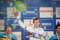 Thijs Aerts (BEL) as the new Juniors CX World Champion<br /> <br /> 2014 UCI cyclo-cross World Championships, Junior Men