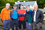Eamon Fleming, Declan Mahony, John Cronin,  Pat Culleton and Paul Derham ready to head off from Cronins Yard for the Eileen Cronin memorial climb of Carrauntoohil on Monday