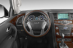 Car pictures of steering wheel view of a 2017 Infiniti QX80 3.5 5 Door SUV Steering Wheel
