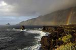 Double rainbow over the sea,punta de Roques de Salmor. El Hierro, Canary Islands.