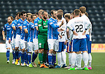 Kilmarnock v St Johnstone...19.09.15  SPFL Rugby Park, Kilmarnock<br /> Dave Mackay leads the players out prior to kick off<br /> Picture by Graeme Hart.<br /> Copyright Perthshire Picture Agency<br /> Tel: 01738 623350  Mobile: 07990 594431