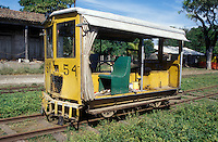 Motorized railway maintenance car at the Sitio del Nino train station in El Salvador, Central America