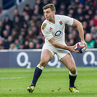 George Ford in action, England v Ireland in a 6 Nations match at Twickenham Stadium, Whitton Road, Twickenham, England, on 27th February 2016
