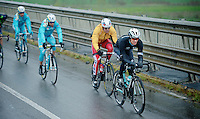 Zdenek Stybar (CZE/OPQS) was riding very strong once again. Here he is tailed by (later winner) Alexander Kristoff (NOR/Katusha) and Vincenzo Nibali (ITA/Astana)<br /> <br /> 2014 Milano - San Remo
