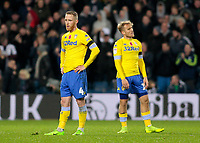 Leeds United's Adam Forshaw shows his dejection as West Bromwich Albion score another goal<br /> <br /> Photographer David Shipman/CameraSport<br /> <br /> The EFL Sky Bet Championship - West Bromwich Albion v Leeds United - Saturday 10th November 2018 - The Hawthorns - West Bromwich<br /> <br /> World Copyright © 2018 CameraSport. All rights reserved. 43 Linden Ave. Countesthorpe. Leicester. England. LE8 5PG - Tel: +44 (0) 116 277 4147 - admin@camerasport.com - www.camerasport.com