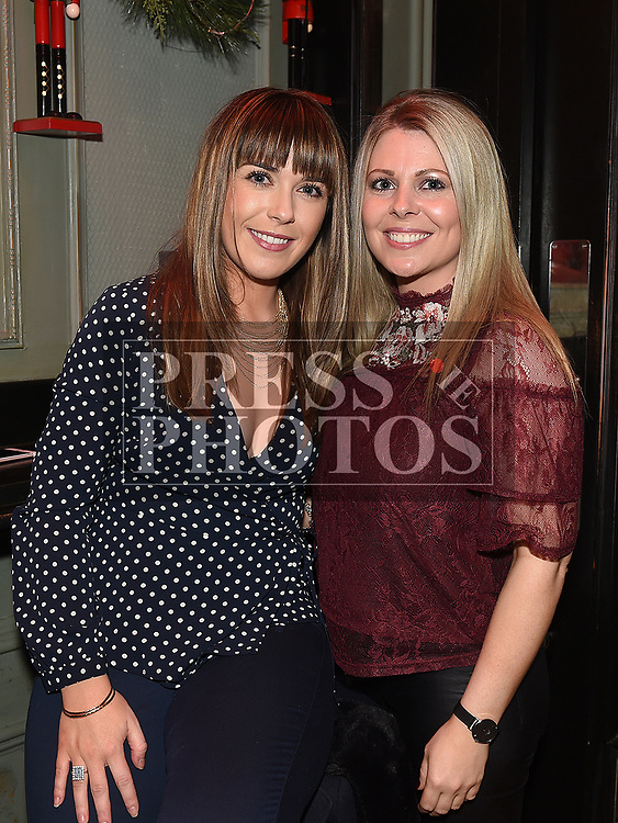 Claire Owens and Amanda Monaghan enjoying the New year weekend in The Grey Goose. Photo:Colin Bell/pressphotos.ie
