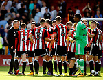 Chris Wilder manager of Sheffield Utd talks to his team during the Championship match at Bramall Lane, Sheffield. Picture date 26th August 2017. Picture credit should read: Simon Bellis/Sportimage