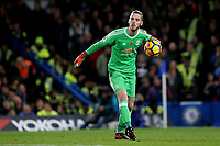 Manchester United goalkeeper, David de Gea during Chelsea vs Manchester United, Premier League Football at Stamford Bridge on 5th November 2017