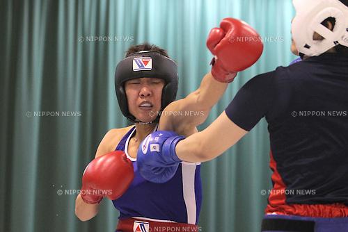 Shizuyo Yamazaki, MAY 14th, 2011 - Boxing : Amateur Boxing Women's Selection Team Training Camp at Nishinomiya Kofu High school in Hyogo, Japan. (Photo by Akihiro Sugimoto/AFLO SPORT) [1080]