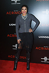 """Alicia Quarles arrives on the red-carpet for the Tyler Perry""""s ACRIMONY movie premiere at the School of Visual Arts Theatre in New York City, on March 27, 2018."""