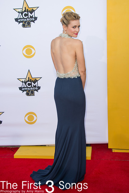 Beth Behrs attends the 50th Academy Of Country Music Awards at AT&T Stadium on April 19, 2015 in Arlington, Texas.