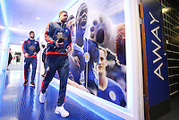 Gylfi Sigurdsson of Swansea City arrives before the Barclays Premier League match between Leicester City and Swansea City played at The King Power Stadium, Leicester on April 24th 2016