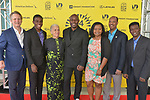 MIAMI, FL - MARCH 04: Owsley Brown, Mark Valens, Nicole St. Victor, Actor Jimmy Jean-Louis, Bernadette Williams, David César and Jean-Bernard Desinat attend the Miami Film Festival screening for 'Serenade for Haiti' at Regal South Beach on March 4, 2017 in Miami, Florida. ( Photo by Johnny Louis / jlnphotography.com )