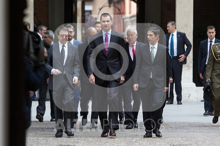 Spanish king, Felipe VI arrives at the Quevedos, an  iberoamerican award of grafic humor 2014. May 26,2016. (ALTERPHOTOS/Rodrigo Jimenez)