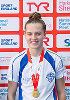 Picture by Allan McKenzie/SWpix.com - 05/08/2017 - Swimming - Swim England National Summer Meet 2017 - Ponds Forge International Sports Centre, Sheffield, England - Imogen Meers takes gold in the womens 15yrs 50m breaststroke.