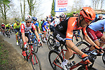 The 2nd group on the road including Lars Boom (NED) Roompot-Charles climb Mont Noir during the 2019 Gent-Wevelgem in Flanders Fields running 252km from Deinze to Wevelgem, Belgium. 31st March 2019.<br /> Picture: Eoin Clarke | Cyclefile<br /> <br /> All photos usage must carry mandatory copyright credit (© Cyclefile | Eoin Clarke)