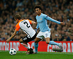Leroy Sane of Manchester City tussles with Bohdan Butko of Shaktar Donetsk during the Champions League Group F match at the Emirates Stadium, Manchester. Picture date: September 26th 2017. Picture credit should read: Andrew Yates/Sportimage