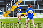 Conor HAyes 15 and Fergal O'Brien celebrate after winning the Corn Uí Mhuire final in Fitzgerald Stadium on Saturday