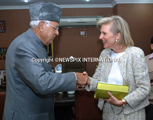 PRINCESS ASTRID OF BELGIUM<br /> meets with Union Minister for New and Renewable Energy, Dr. Farooq Abdullah, New Delhi _24.11.2013. <br /> Mandatory Credit Photos: NEWSPIX INTERNATIONAL<br /> <br /> **ALL FEES PAYABLE TO: &quot;NEWSPIX INTERNATIONAL&quot;**<br /> <br /> PHOTO CREDIT MANDATORY!!: NEWSPIX INTERNATIONAL(Failure to credit will incur a surcharge of 100% of reproduction fees)<br /> <br /> IMMEDIATE CONFIRMATION OF USAGE REQUIRED:<br /> Newspix International, 31 Chinnery Hill, Bishop's Stortford, ENGLAND CM23 3PS<br /> Tel:+441279 324672  ; Fax: +441279656877<br /> Mobile:  0777568 1153<br /> e-mail: info@newspixinternational.co.uk
