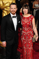 HOLLYWOOD, LOS ANGELES, CA, USA - MARCH 02: Michael Fassbender, Adele Fassbender at the 86th Annual Academy Awards held at Dolby Theatre on March 2, 2014 in Hollywood, Los Angeles, California, United States. (Photo by Xavier Collin/Celebrity Monitor)