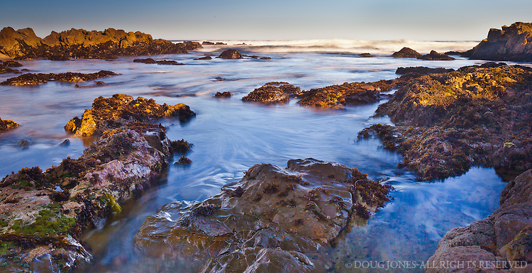 Dawn at Asilomar State Beach near Pacific Grove, CA was especially colorful on this clear morning.