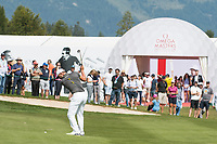 Haydn Porteous (RSA) in action on the 17th hole during third round at the Omega European Masters, Golf Club Crans-sur-Sierre, Crans-Montana, Valais, Switzerland. 31/08/19.<br /> Picture Stefano DiMaria / Golffile.ie<br /> <br /> All photo usage must carry mandatory copyright credit (© Golffile | Stefano DiMaria)