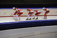 SCHAATSEN: HEERENVEEN: 19-09-2014, IJsstadion Thialf, Topsporttraining, Team Corendon, ©foto Martin de Jong